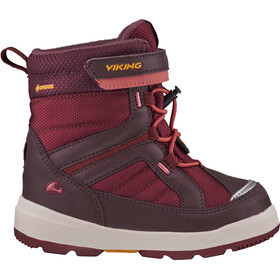 Viking Footwear Playtime GTX Botas Invierno Niños, wine/dark red